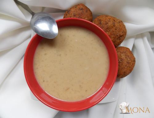 Proteines tökfőzelék vegán fasírttal (glutén,tej,tojás,cukor,szójamentes)